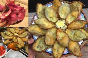 Cô gái sáng chế món snack lạ cánh hoa sen chiên giòn