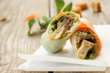 The secret to making vegetarian spring roll salad