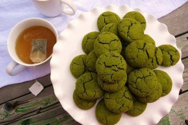 How to make cookie green tea crispy